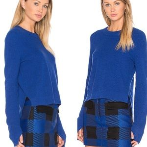 Rag & Bone Cashmere Blue Valentina Crop Sweater S